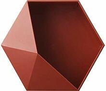 YKWYQ Nordic Stil Geometric Hexagon Storage Rack