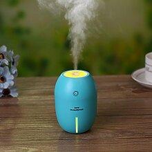 YL Kreatives Nachtlicht Obst Zitrone Luftbefeuchter Desktop Usb Mini Luftreiniger Silent Spray Ultraschall Luftreiniger,Blau