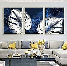 YL–wallart druckt Bilder Weiße Pflanze Blatt
