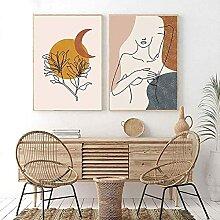 YL–wallart Wandkunst Boho Stil Abstrakte Frau