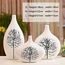 YLA Keramikvase Weiß Birke Weiß Vase