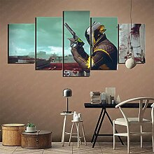 YLAXX 5 Split Paintings Destiny 2 Kunstsammlung