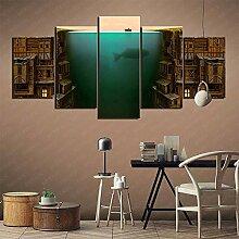 YLAXX Leinwanddrucke Angler Art Collection