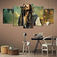YLAXX Leinwanddrucke Captain Jack Sparrow