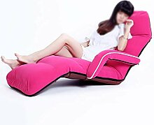 YLCJ Bodenstuhl Lazy Sofa mit Rückenlehne ideal