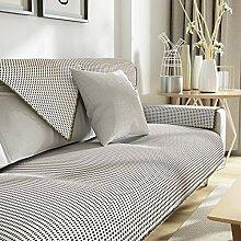 YLCJ Leinenbezug Sofa, Sofabezüge für Ledersofa