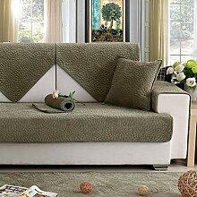 YLCJ Winter Kurze Plüsch Schonbezug Sofa für