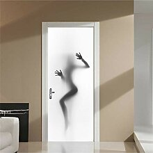 YLLW Tür Aufkleber Mural 3D Step Sexy Girl
