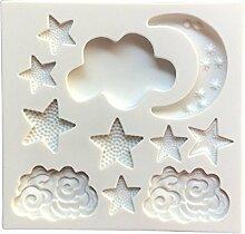 YLLY Mond Sterne Wolken Form Backform Ausstecher