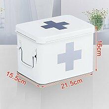 YLLYPX Medizin-Box Haushalt Notfall verzinktem