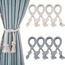 YMIFEEY 8 Stück Raffhalter Baumwolle Seil