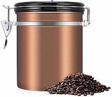 Ymiko Kaffeedose aus Edelstahl, Vorratsdose, 4 Farben erhältlich(Gold)