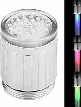 Ymiko LED Licht Wasserhahn Temperaturfühler RGB 3