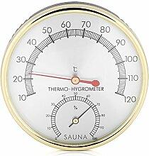 Ymiko Sauna Thermometer Hygrometer Klimamesser Luftfeuchtigkeit Saunazubehör Metall