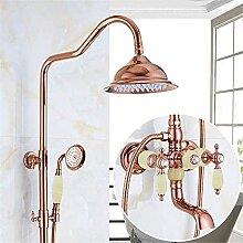 YMLSD Wasserhähne, Luxus Alle Rose Gold Dusche