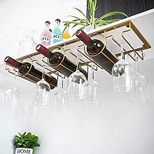 YMLSD Weinregale, Weinflasche Glasgestell Metall
