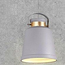 YMXJB Kreative Aluminium-Anhänger Light Industry Kronleuchter Cafe Bar Wohnzimmer Persönlichkeit Angelschnur Ring-hängende Lampe, 220V-240V