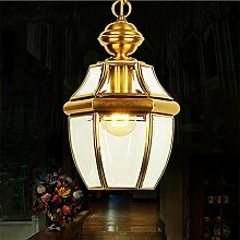 YMXJB Kreative Hand Made Alle Bronze-Anhänger-Licht Retro Kronleuchter Schlafzimmer Nacht Wohnzimmer Bar Cafe Einfache Pendelleuchte, 220V-240V