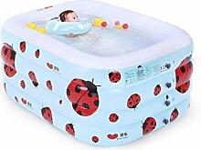 YMXLJF Aufblasbarer Pool, aufblasbare Kinderbadewanne (Farbe : 135cm*105cm*58cm)
