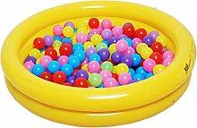 YMXLJF Aufblasbarer Pool für Kinder Runde Badewanne aus Weichem Kunststoff für Kinder in Zwei Farben (Farbe : Gelb, Größe : Foot Pump)
