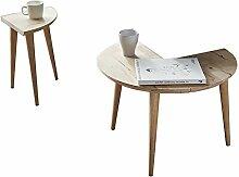 YMXLJF Kreative Sofa Beistelltisch abnehmbar, Holz Couchtisch, Runde Couchtisch,