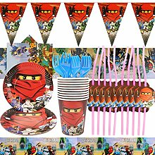 YN 74 Teilige Geburtstag Deko, Kindergeburtstag