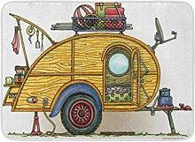 YnimioHOB Bad Matte Camping niedlichen Rv Vintage