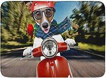YnimioHOB Bad Matte Haustier Roller Hund Jack