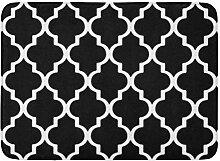 YnimioHOB Badematte großes marokkanisches Muster