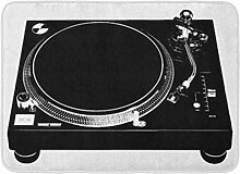 YnimioHOB Badematte Plattenspieler DJ Deck Musik