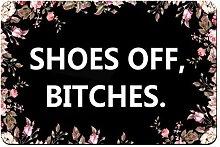 YnimioHOB Benutzerdefinierte Fußmatte Schuh aus,