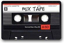 YnimioHOB Kassette Art Pattern Mix Tape Fußmatte