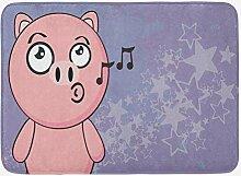 YnimioHOB Schwein-Badematte, singendes Vieh auf