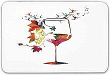 YnimioHOB Weingut Dekor Haustür Matte, Vine Glas