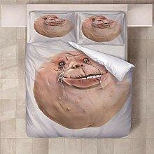 YNKNIT Bettbezug 200x200 cm Monster Bettbezug 3D