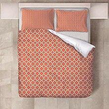 YNKNIT Bettbezug 200x200 cm Orange Bettbezug 3D