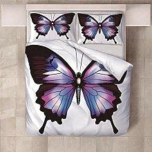 YNKNIT Bettbezug 200x200 cm Schmetterling