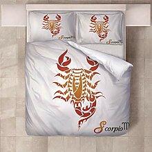 YNKNIT Bettbezug 200x200 cm Skorpion Bettbezug 3D