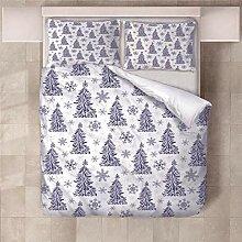 YNKNIT Bettbezug 200x200 cm Weihnachtsbaum