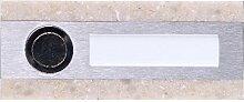 Ynsta Klingelknopf, rechteckig, beige, 1 Stück, PDK-250/1_250V