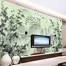 YNYEZBH 3D-Druck Wandbild grün Bambus Pflanze