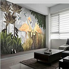 YNYEZBH 3D Druck Wandbild Pflanze Blatt Vogel
