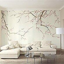 YNYEZBH 3D-Druck Wandbild Pflanze Pflaumenblüte