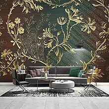 YNYEZBH 3D Fototapete Dekoration Moderne goldene