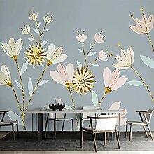 YNYEZBH 3D Fototapete Moderne Pflanze Blumenkunst