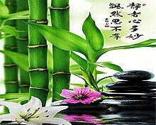 YNYEZBH 3D Fototapete Pflanze grün Bambus
