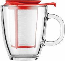 YO-YO SET: Glastasse mit Kunststofffilter, 0.35 l