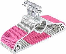 Yoassi Rosa Herzförmige Kleiderbügel Kunststoff