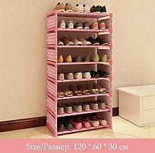 Yocitoy 8 stöckige Schuhablage, Mehrzweckschuh Organizer, platzsparende Schuhschrank, leichtes Material Keine Werkzeuge erforderlich Pink
