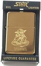 Yoda Star Wars Star Gold Benzin Feuerzeug (tg30) +